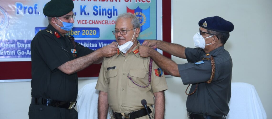 investiture-ceremony-for-grant-of-honorary-colonel-commandant-of-ncc-prof-dr-g-k-singh-vice-chancellor-duvasu-mathura